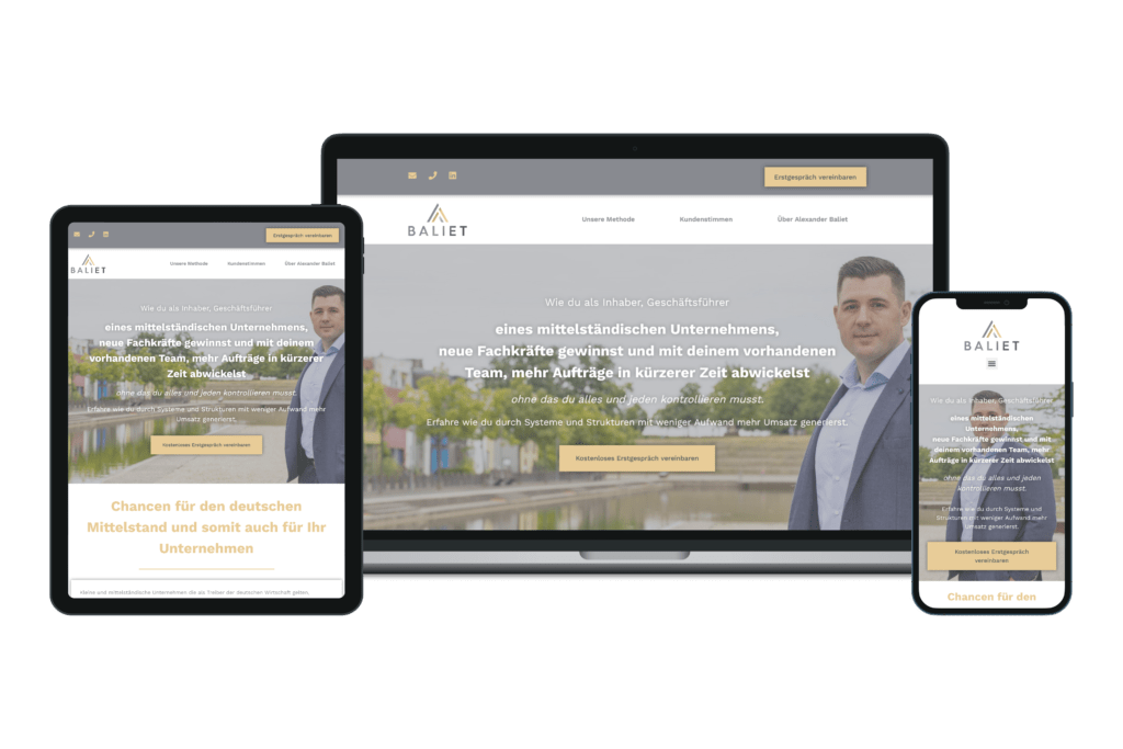 Baliet Consulting Mockup